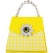 Yellow Gingham Handbag Notepad