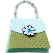 Blue & Green Handbag Notepad
