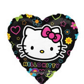 Foil Heart Hello Kitty Balloon 18in