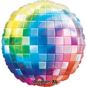 Foil Rainbow Disco Ball Balloon 31in