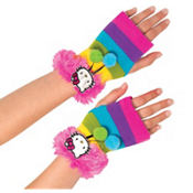Girls Hello Kitty Fingerless Gloves