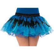 Black and Blue Fantasy Feather Belt