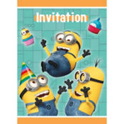 Despicable Me Invitations 8ct