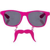 Pink Handlebar Sun-Stache