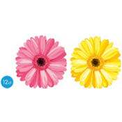 Spring Daisy Cutouts 8in 12ct