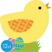 Easter Chick Cutouts 13in 12ct