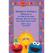 Sesame 1st Birthday Custom Invitation