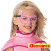 Child Glitter Supergirl Mask - Superman