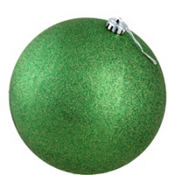 Green Ball Christmas Ornament 8in
