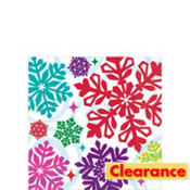 Bright Holiday Beverage Napkins 16ct