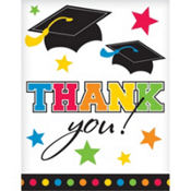Rainbow Graduation Thank You Notes 50ct