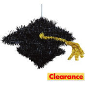 Hanging Tinsel Graduation Cap