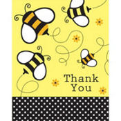 Bumblebee Baby Shower Thank You Notes 8ct