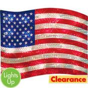 Light-Up American Flag Decoration
