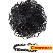 Black Rubber Loom Bands 300ct
