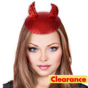 Devil Horns Fascinator