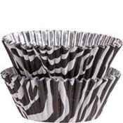 Zebra Foil Baking Cups 36ct