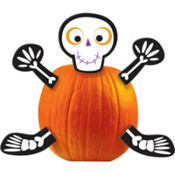 Skeleton Pumpkin Decorating Kit