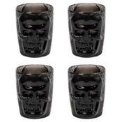 Black Skull Shot Glasses 4ct