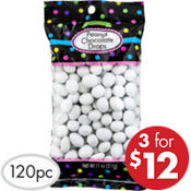 White Peanut Chocolate Drops 120pc
