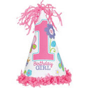 pink sweet girl 1st birthday party hat