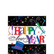 Ring in the Year New Year's Beverage Napkins 125ct