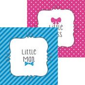 Little Man, Little Miss Gender Reveal Beverage Napkins 16ct