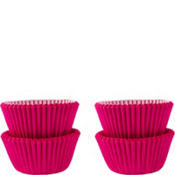 Mini Bright Pink Baking Cups 100ct