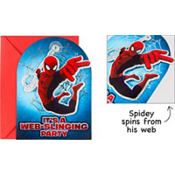 Jumbo Spider-Man Invitations Deluxe 8ct