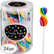 Twirly Rainbow Lollipops 24pc