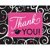Sparkling Graduation Thank You Notes for 50