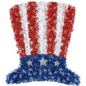 Tinsel Uncle Sam Hat Decoration