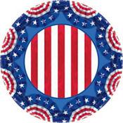American Pride Patriotic Lunch Plates 60ct