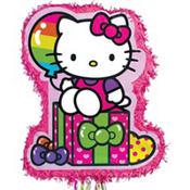 Pull String Rainbow Hello Kitty Pinata