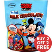 Mickey Mouse Mini Milk Chocolate Bars 18pc