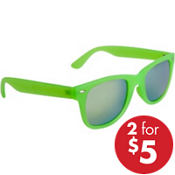 Kiwi Green Mirrored Sunglasses