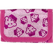 Bright Pink Cupcake Glitter Wallet