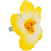 Yellow Hibiscus Flower Ring