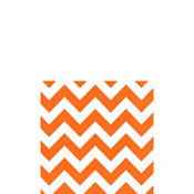 Orange Chevron Beverage Napkins 16ct