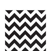 Black & White Chevron Lunch Napkins 16ct