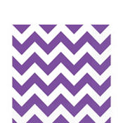 Purple Chevron Lunch Napkins 16ct