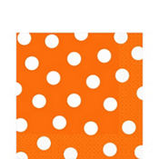Orange Polka Dot Lunch Napkins 16ct