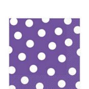 Purple Polka Dot Lunch Napkins 16ct