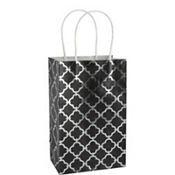 Medium Metallic Black Moroccan Kraft Gift Bag