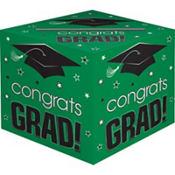 Green Graduation Card Holder Box - Congrats Grad