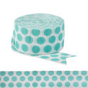Robin's Egg Blue Polka Dot Streamer