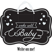 Baby Shower Baby Countdown Chalkboard Sign