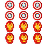Avengers Icing Decorations 12ct
