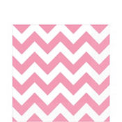 Pink Chevron Lunch Napkins 16ct