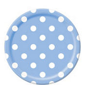 Pastel Blue Polka Dot Lunch Plates 8ct
